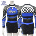 College Sublimation Cheerleading Uniformen