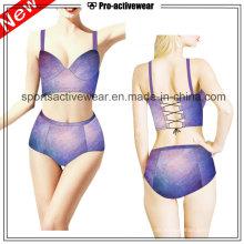 OEM 2016 Fabric Damen Sexy V Form One Piece Swimwears