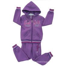 Fleece Kids Girl Sport Suit in Children ′s Wear for Cardigans Swg-129