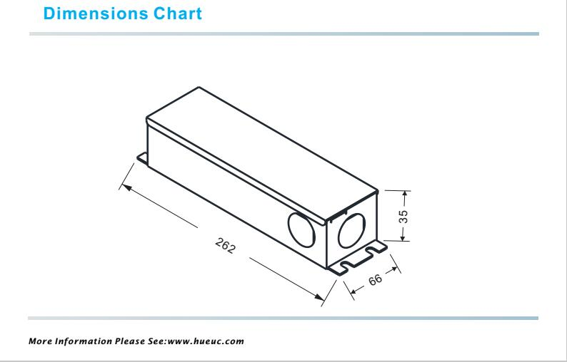 no noise 80w dimensions chart