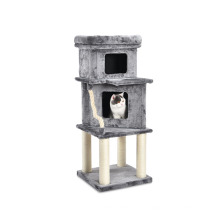 Special Hot Selling Detachable Cave Sisal Cat Tree Pet Cat Wooden House