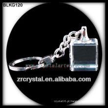 Chaveiro de cristal em branco para gravação a laser 3d