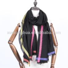 Lurex dorado merceized bufanda de lana