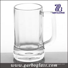 Popular Glassware Thick Bottom Handle Glass Beer Mug (GB093713)