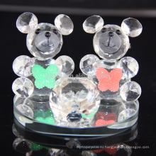 Горячая распродажа прекрасный кристалл K9 медведь для подарок на день рождения