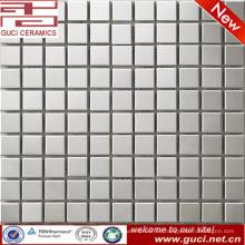 Fuente de la fábrica de foshan Azulejo de mosaico cuadrado de acero inoxidable para la pared del baño