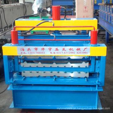 A construção usou a máquina do forjamento do metal que faz a maquinaria anterior do painel da parede & do telhado 3D