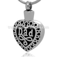 Meilleure vente élégant papa émail coloré toujours dans mon coeur pendentif commémoration de la crémation pendentif urne cendres bijoux