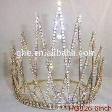 Perle Schönheitswettbewerb Krone & Tiaras Rhinestone Hochzeit Tiara Plastik Krone kundenspezifische Kronen