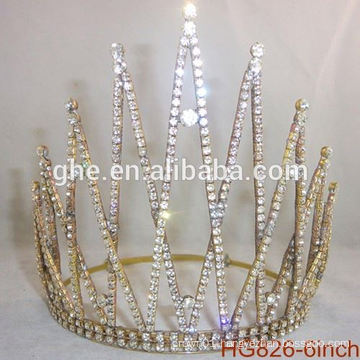 Pearl beauty pageant crown&tiaras rhinestone wedding tiara plastic crown customized crowns