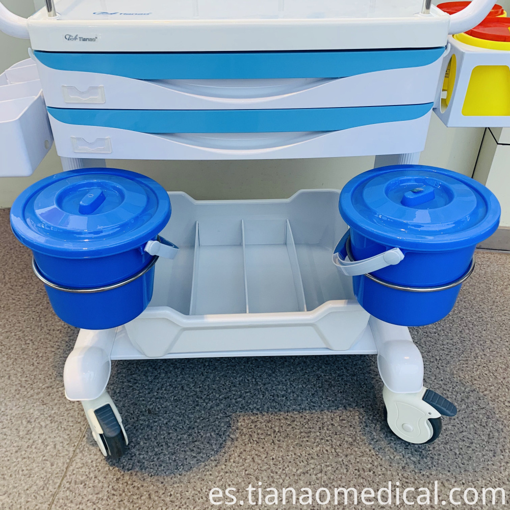 Hospital Steel ABS Treatment Trolley Cart