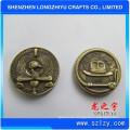 Runde kundenspezifische Metallmünze Antike Bronze 3D Design Medaillon Herausforderung Metam Kupfer Medaille Abzeichen Münzen für Gedenk Geschenke, Neuheit Kopien Münzen