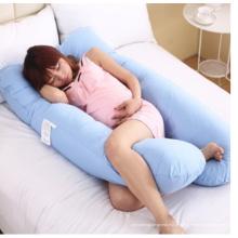 Travesseiro corporal multifuncional tipo E para gravidez em formato de U na cintura