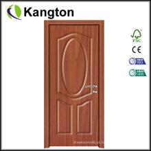 Decoração de porta de filme de PVC de grão de madeira (porta de filme de PVC)