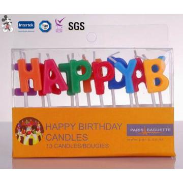 Vente en gros de bougies d'anniversaire sans fumée sans fumée