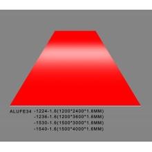 Glänzende rote Aluminiumblechplatte 1.6mmThick 5052 H32
