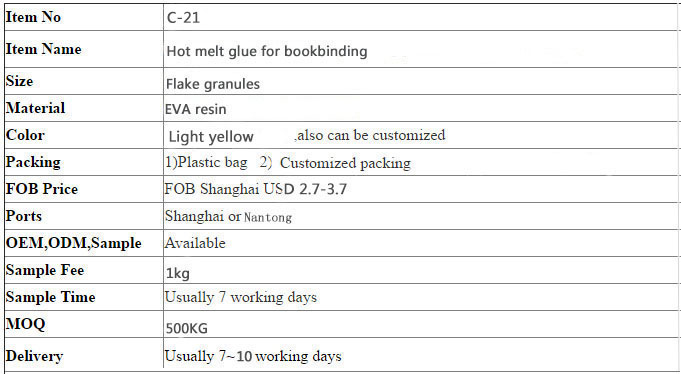 Factory Price of Bookbinding Glue Adhesive