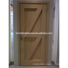 Tipo agradável do balanço do estilo country do olhar do projeto de madeira da porta de celeiro