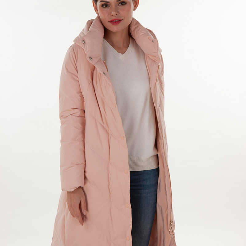 Trendy stand collar down jacket