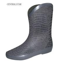 Femmes Style New Snake Skin impression bottes de pluie