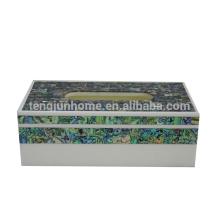 Produit de coquillage en nacre Nouvelle-Zélande paua shell rectangle boutique kleenex support