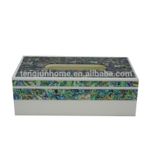seashell mother of pearl shell product New zealand paua shell rectangle boutique kleenex holder