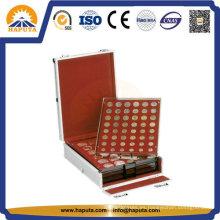 Aluminio moneda pantalla estuche para el almacenamiento de la colección de monedas