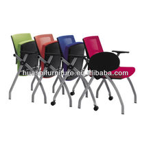 T-083SH-Y Stackable office meeting room chair with writing tablet