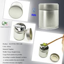 Metal Matcha Tea Canister Screw Top Can Tor Torcha Storage