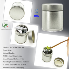Metal Matcha Tea Canister Screw Top Can Tor Matcha Storage