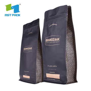 Kraft Paper Coffee Bag dengan Degassing Valve