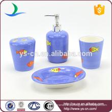 Acessório de banho de chuveiro de cerâmica design de peixe de mar