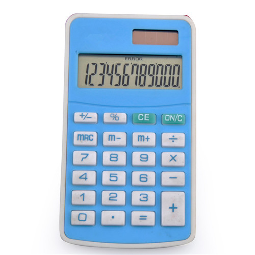 12 digits handhold calculator