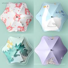 Creative Popular Cute Cartoon Child Umbrella with Reflective Stripe