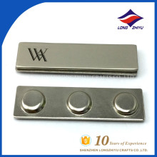 China factory cheap metal name badge with magnet