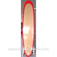 Red Color rail design bamboo longboard great sport equipment ltd on surfing~