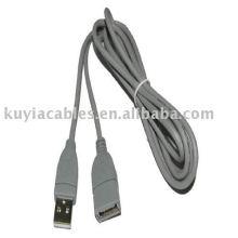 USB2.0 Verlängerungskabel 1.5Meter Beige Farbe