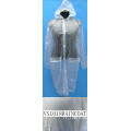 Imperméable transparent de dames en plastique adulte