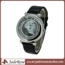 Amazing Mop Dial Leather Strap Lady Watch