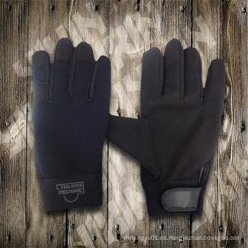 Guantes de trabajo con guante negro, guante de seguridad, guantes económicos, guantes de trabajo, guante industrial