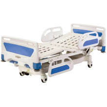 Central Locking Movable Full-Fowler Hospital Bed with ABS Head/Foot Board