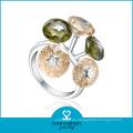 Elegante Blumen-Form-türkische Hochzeits-Ringe