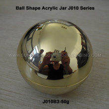 50g Shiny Gold Ball Shape Acrylic Cream Container