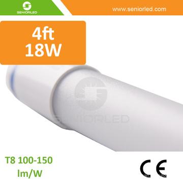 Cambio de luz fluorescente a luces de tubo LED para ahorro de energía