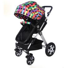 Carrinho de bebê colorido, carrinho de criança de bebê, carrinho de criança