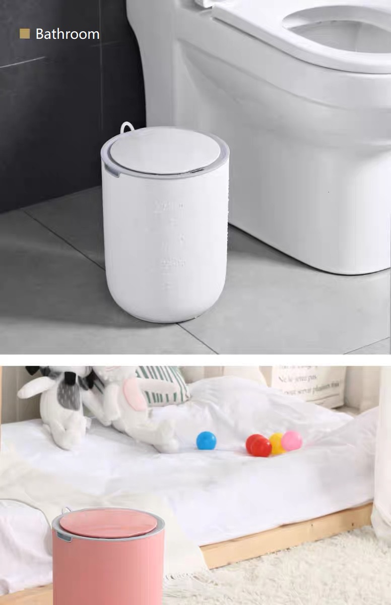 Waterproof Sensor Trash Can for Bathroom