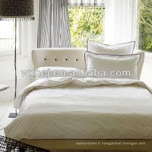 100% coton 400TC satin blanc 7 étoiles hôtel ensemble de linge
