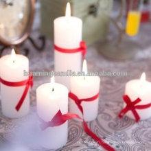 Huaming bougies décorées dans différentes couleurs / Vente en gros de bougies blancs / bougies d'église de pilier blanc