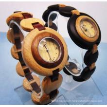 Hlw088 OEM montre en bois des hommes et des femmes montre en bambou de haute qualité montre-bracelet