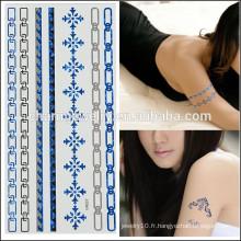 OEM Vente en gros de tatouages de corps de mode tatouage temporaire à l'épreuve de la conception simple pour les filles adorables V4637